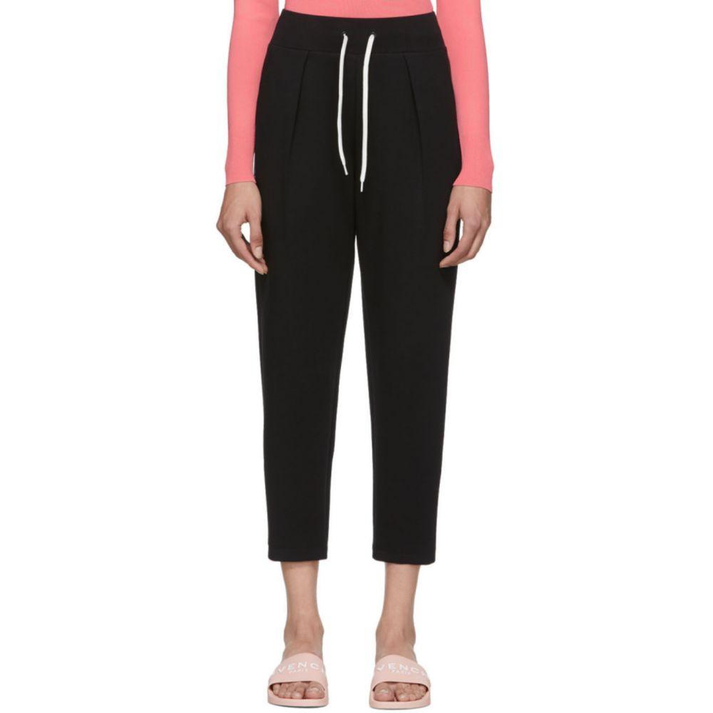 ジバンシー Givenchy レディース スウェット・ジャージ ボトムス・パンツ【Black Embroidered Lounge Pants】Black