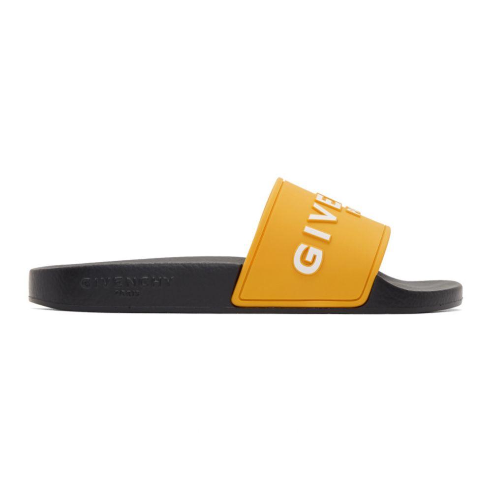 ジバンシー Givenchy レディース サンダル・ミュール シューズ・靴【Yellow ' Paris' Slides】Golden