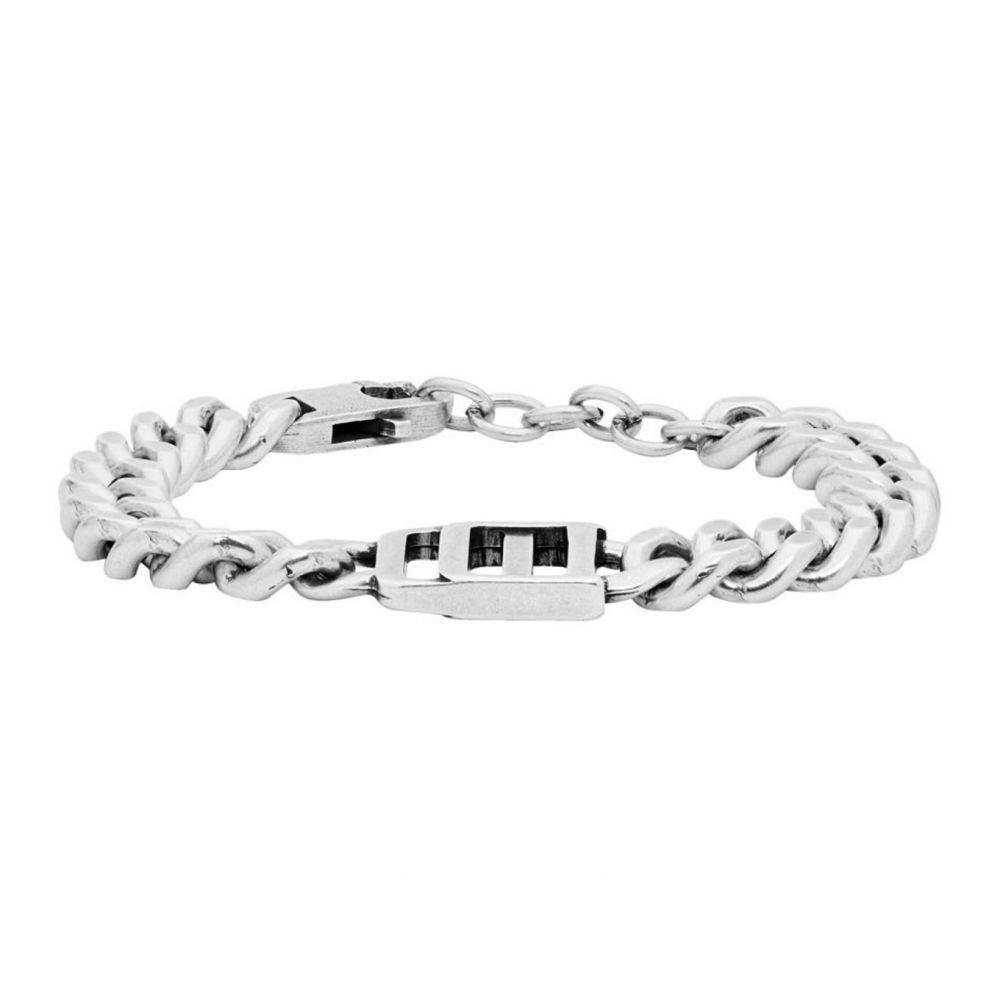 ディースクエアード Dsquared2 メンズ ブレスレット ジュエリー・アクセサリー【Silver Logo Bracelet】Silver