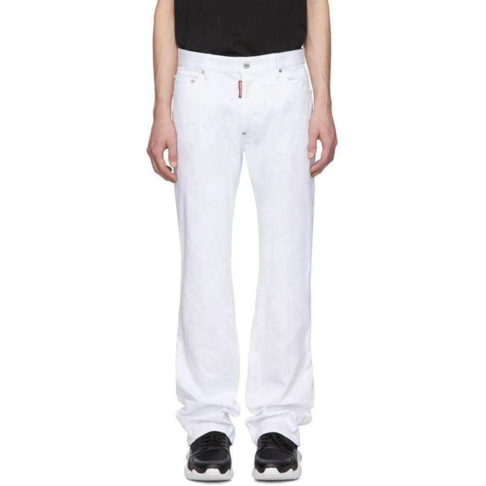 ディースクエアード Dsquared2 メンズ ジーンズ・デニム ブーツカット ボトムス・パンツ【White Bootcut Jeans】White
