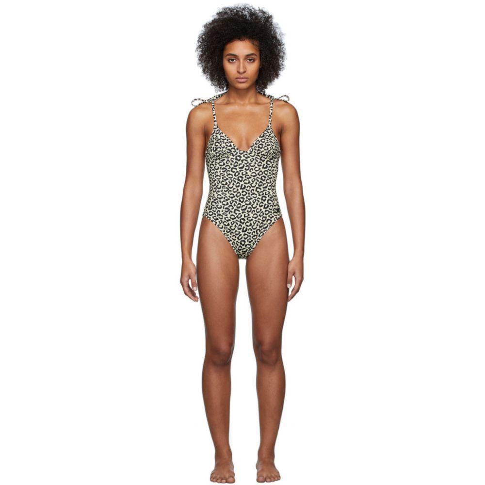 ソリッド&ストライプ Solid & Striped レディース ワンピース 水着・ビーチウェア【Black & Beige Leopard 'The Olympia' One-Piece Swimsuit】Leopard