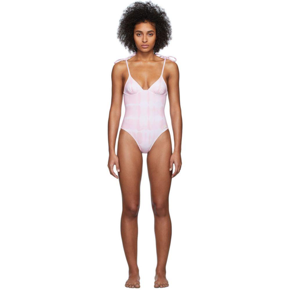 ソリッド&ストライプ Solid & Striped レディース ワンピース 水着・ビーチウェア【Pink & White Tie-Dye 'The Olympia' One-Piece Swimsuit】Ballet tie dye