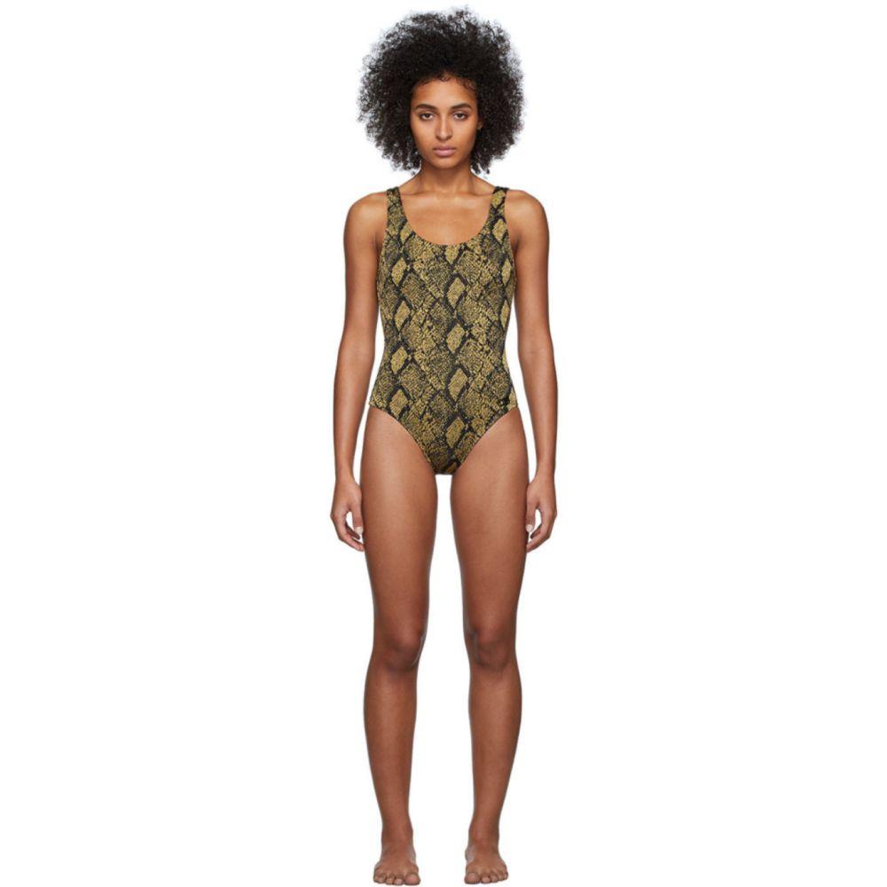 ソリッド&ストライプ Solid & Striped レディース ワンピース 水着・ビーチウェア【Black & Gold 'The Anne-Marie' One-Piece Swimsuit】Snake knit
