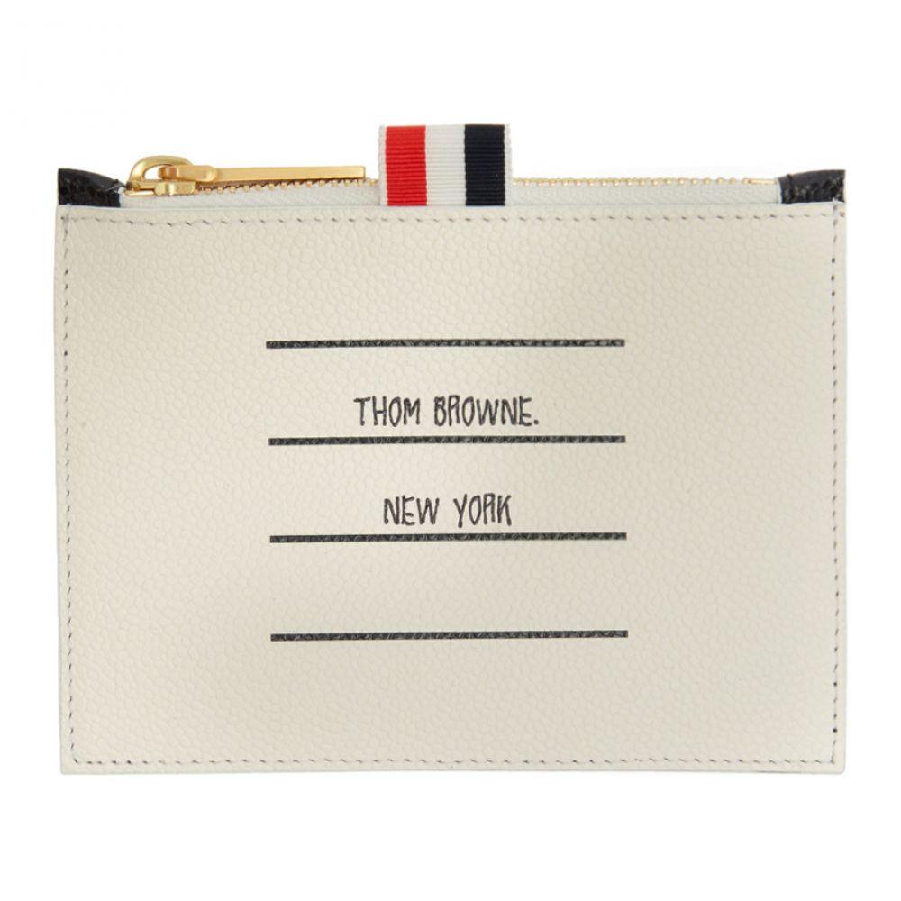 トム ブラウン Thom Browne メンズ 財布 小銭入れ【Black & White Small Paper Label Coin Purse】Black