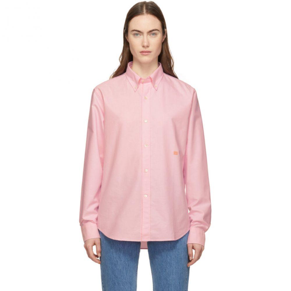 アクネ ストゥディオズ Acne Studios レディース ブラウス・シャツ トップス【Pink Ohio Face Shirt】