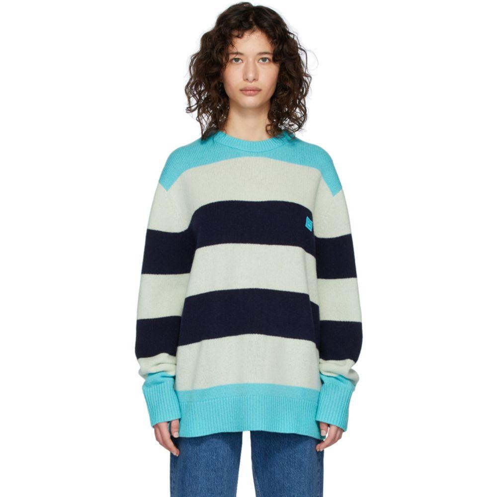 アクネ ストゥディオズ Acne Studios レディース ニット・セーター トップス【Blue Wool Oversized Nimah Sweater】Multi turquoise