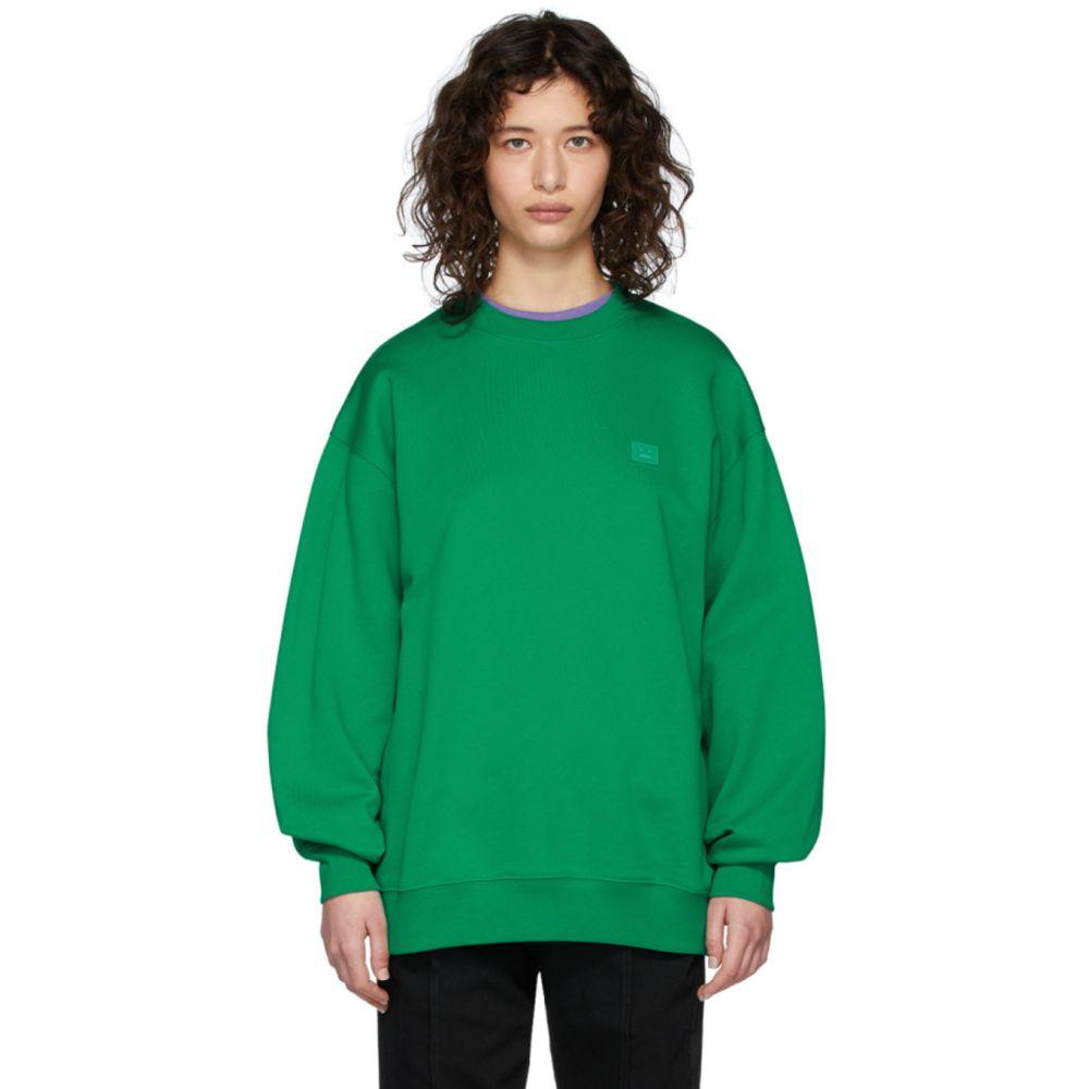 アクネ ストゥディオズ Acne Studios レディース スウェット・トレーナー トップス【Green Forba Face Sweatshirt】Emerald green