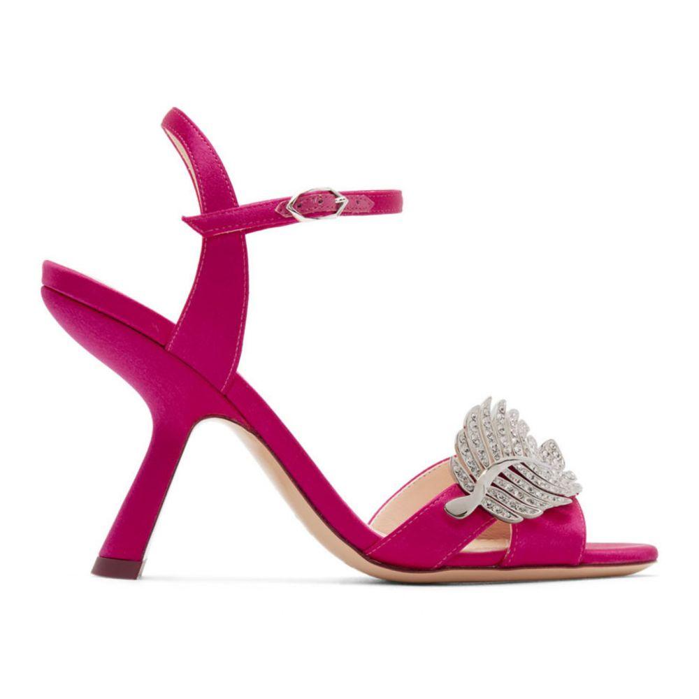 ニコラス カークウッド Nicholas Kirkwood レディース サンダル・ミュール シューズ・靴【Pink Satin Monstera Sandals】Fuchsia