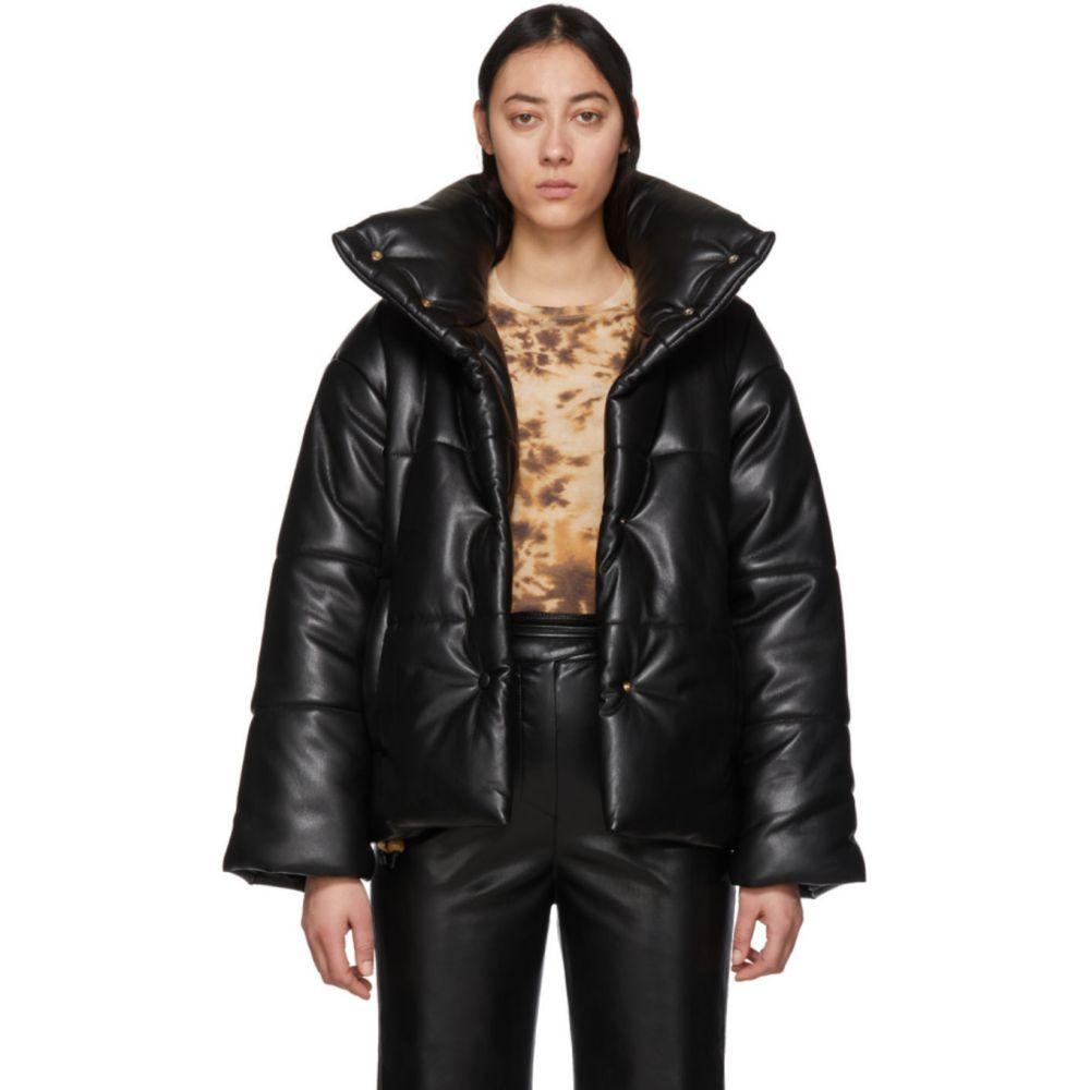 ナヌシュカ Nanushka レディース ダウン・中綿ジャケット アウター【Black Vegan Leather Puffer Jacket】Black