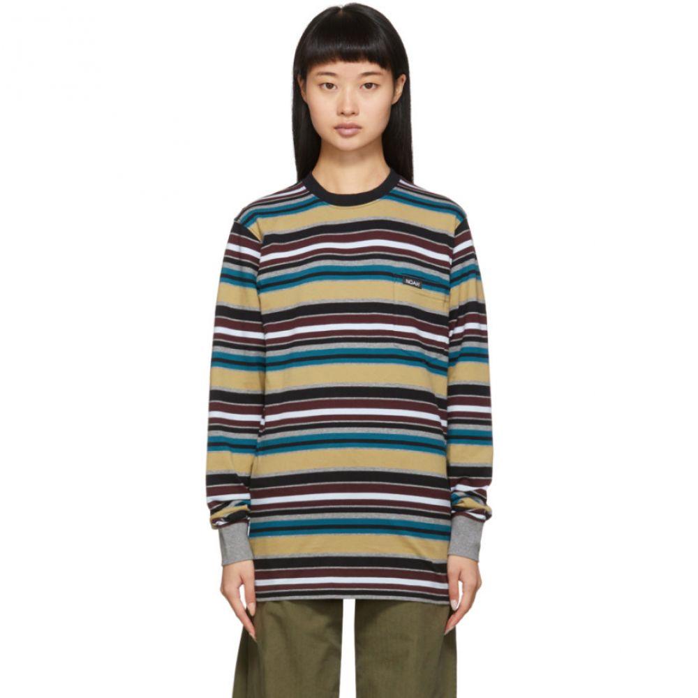ノア Noah NYC レディース 長袖Tシャツ トップス【Multicolor Stripe Long Sleeve T-Shirt】Multicolor stripe