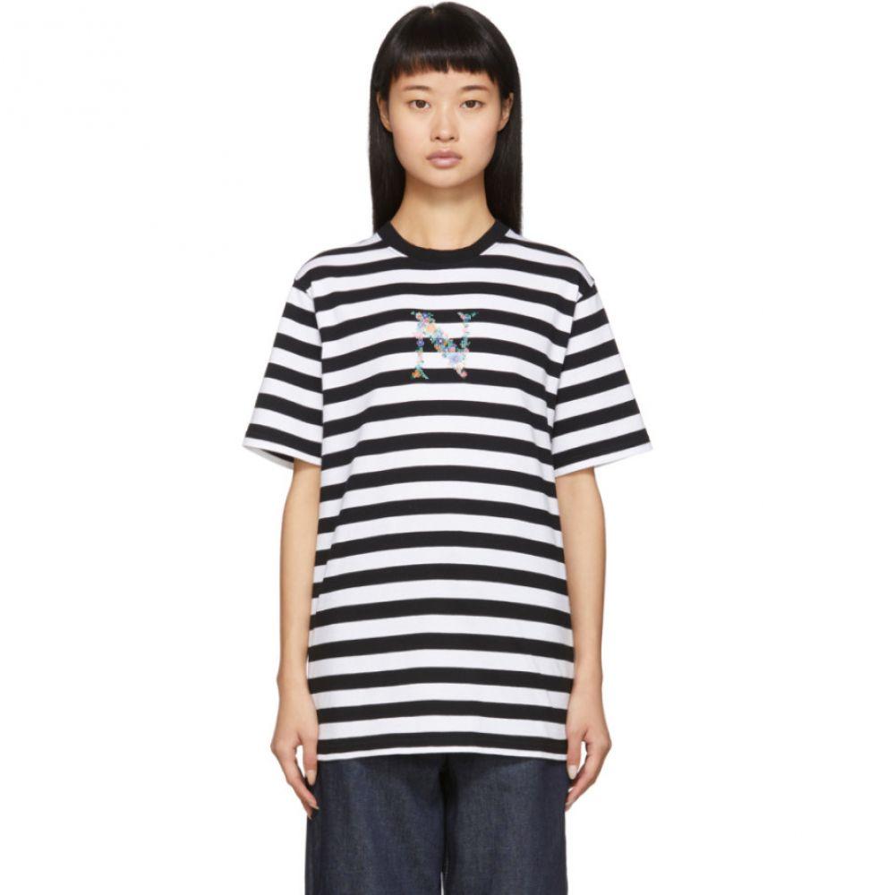 ノア Noah NYC レディース Tシャツ トップス【Black & White Stripe Bouquet T-Shirt】Black combo