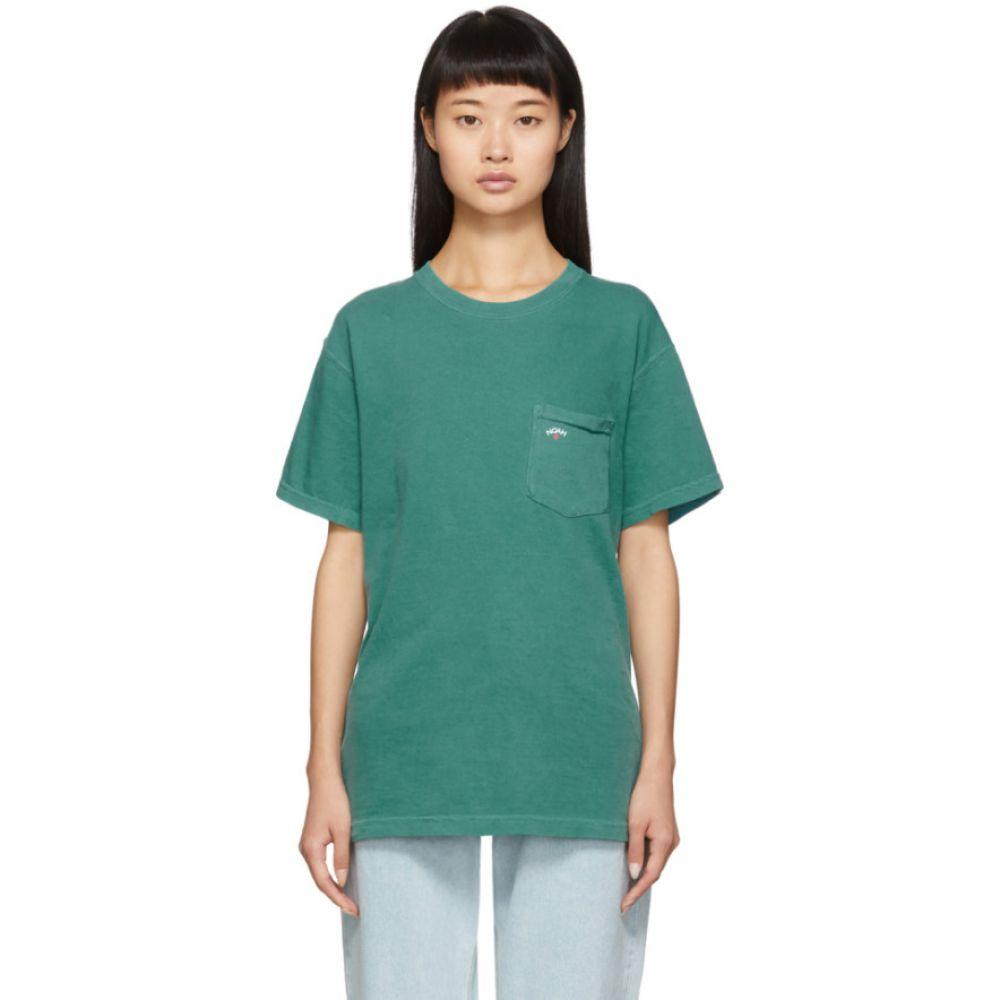 ノア Noah NYC レディース Tシャツ ポケット トップス【Green Pocket T-Shirt】Emerald