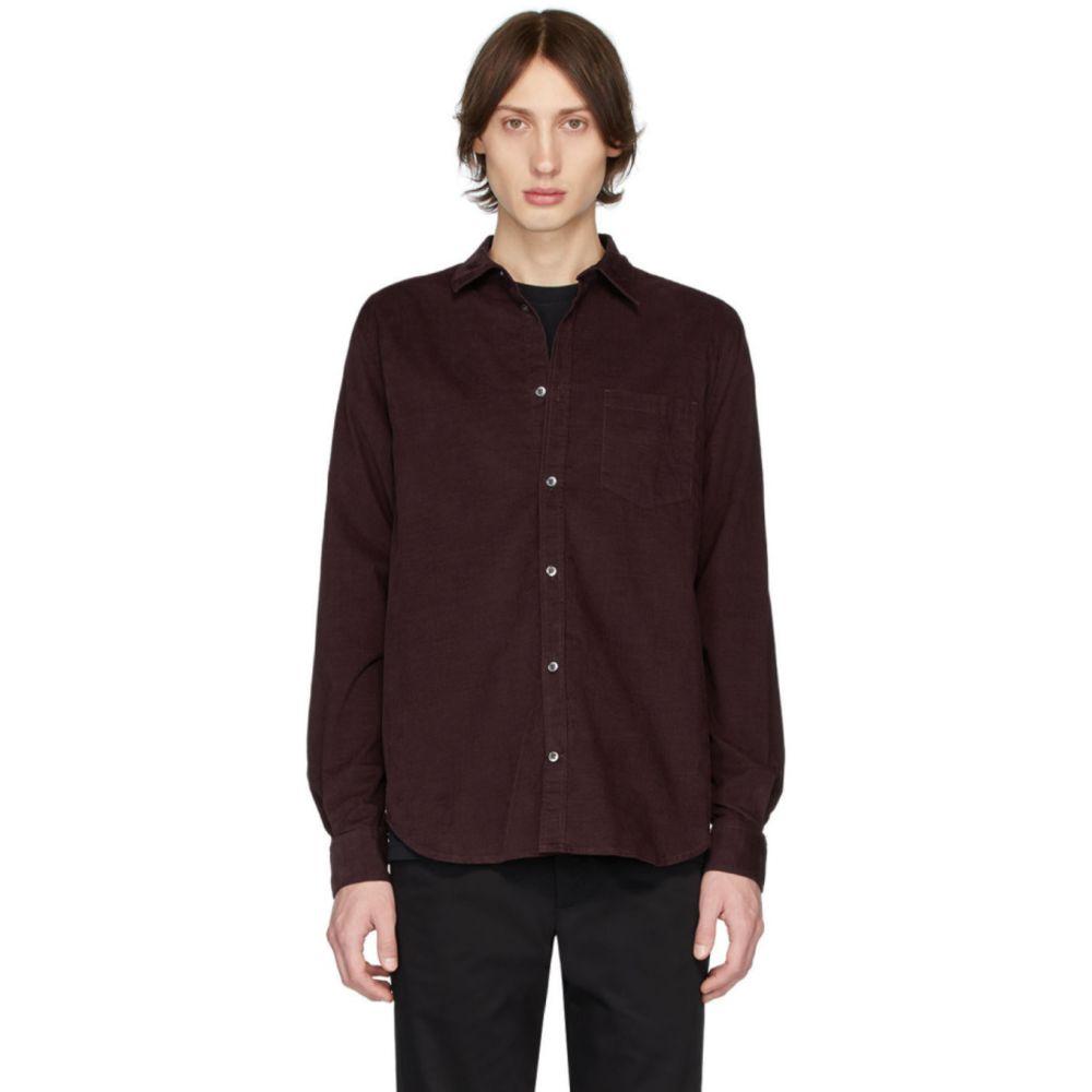 ノースプロジェクト Norse Projects メンズ シャツ トップス【Burgundy Corduroy Osvald Shirt】Mulberry red