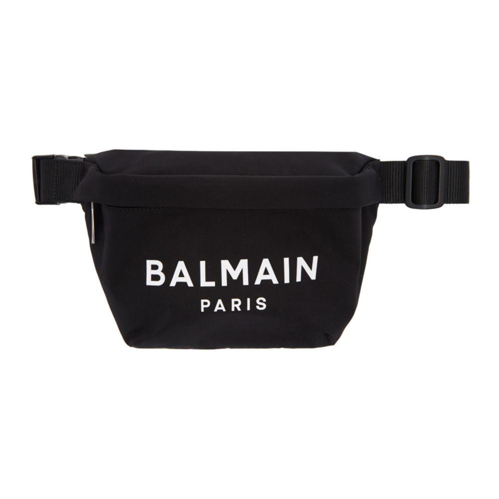 バルマン Balmain メンズ ボディバッグ・ウエストポーチ バッグ【Black Nylon B-Bum Bag】Black