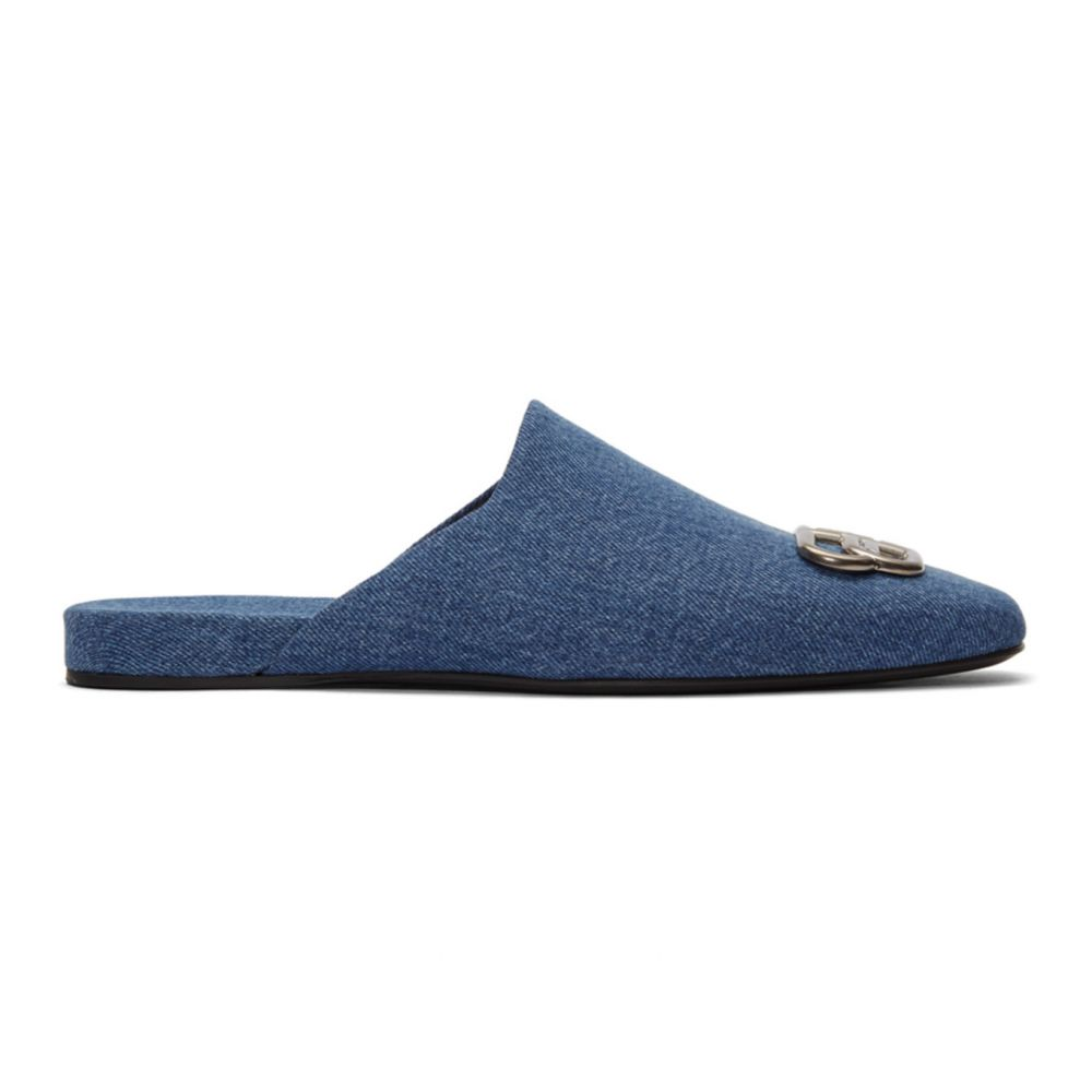 バレンシアガ Balenciaga メンズ ローファー シューズ・靴【Blue Cosy BB Loafers】Blue/Nickel