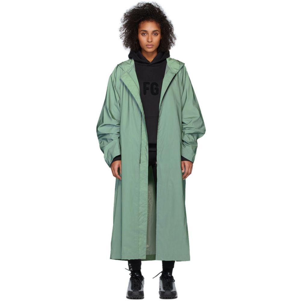 フィアオブゴッド Fear of God レディース レインコート アウター【Green 'Sixth Collection' Hooded Raincoat】Army iridescent