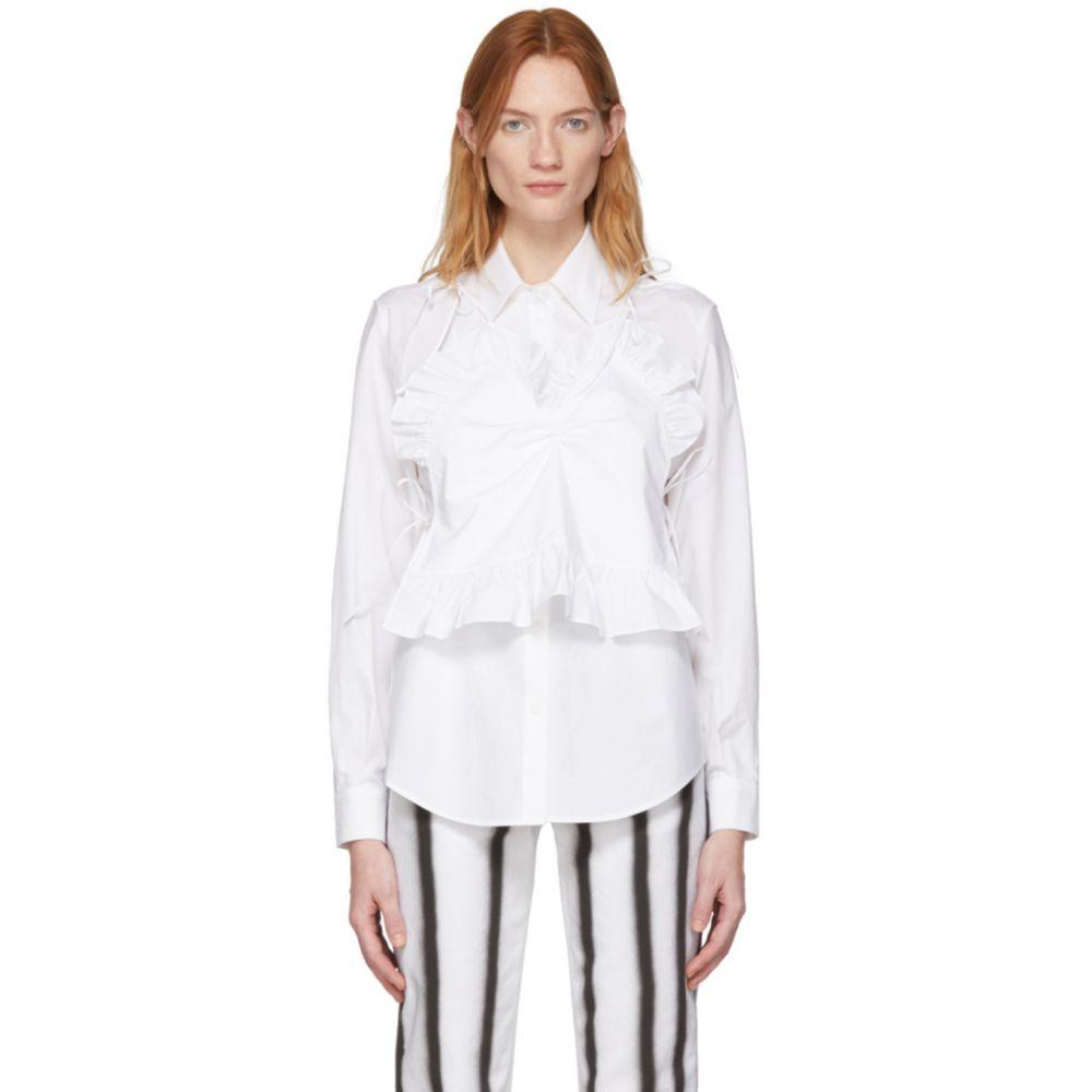 プッシュボタン Pushbutton レディース スリップ・キャミソール インナー・下着【White Camisole Combi Shirt】White