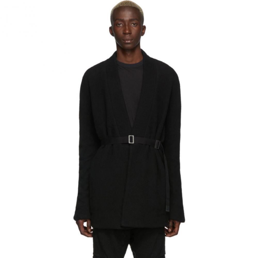 ボリス ビジャン サベリ Boris Bidjan Saberi メンズ カーディガン トップス【Black Wool Short Cardigan】Black