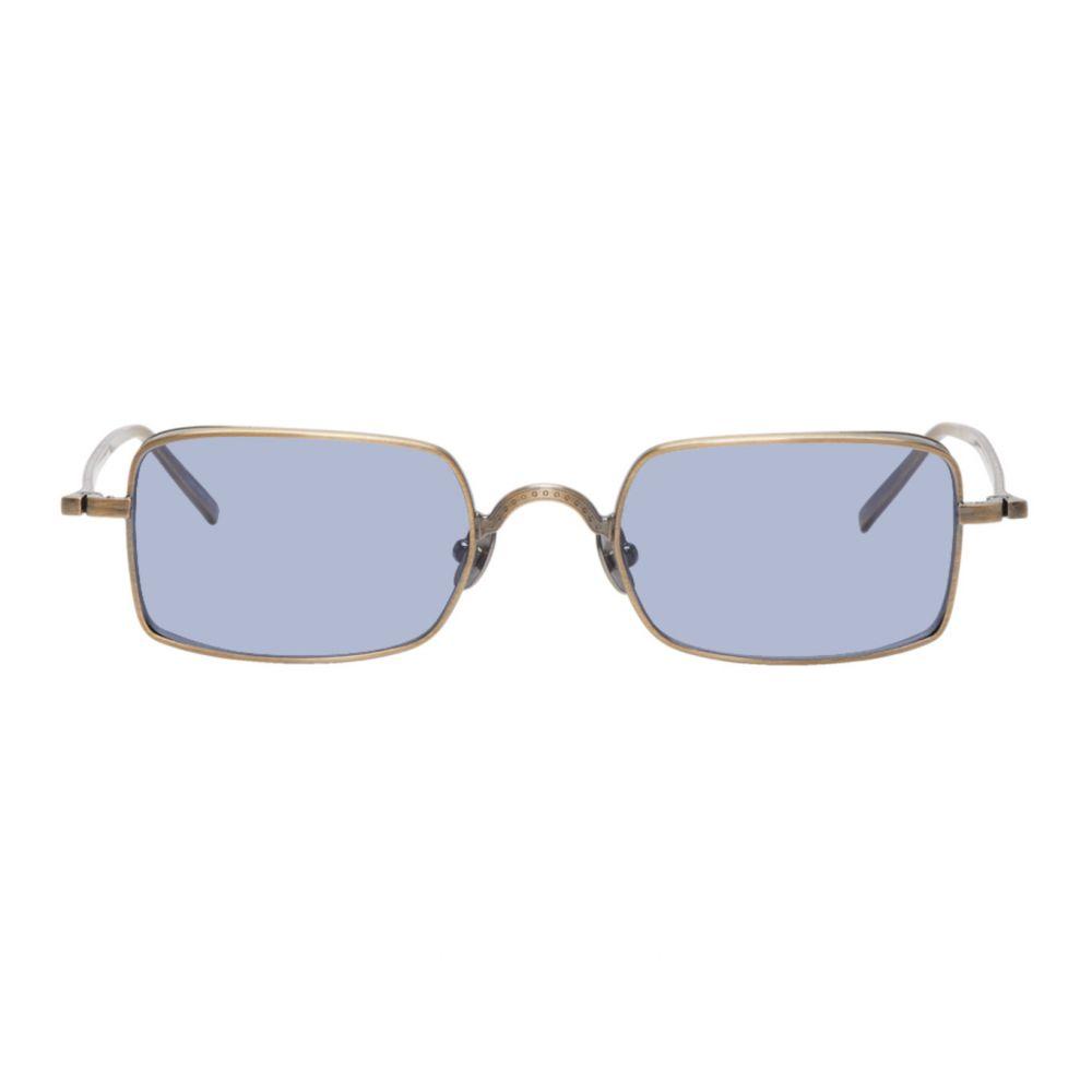 マツダ Matsuda メンズ メガネ・サングラス 【Gold & Blue M3079 Sunglasses】Antique gold