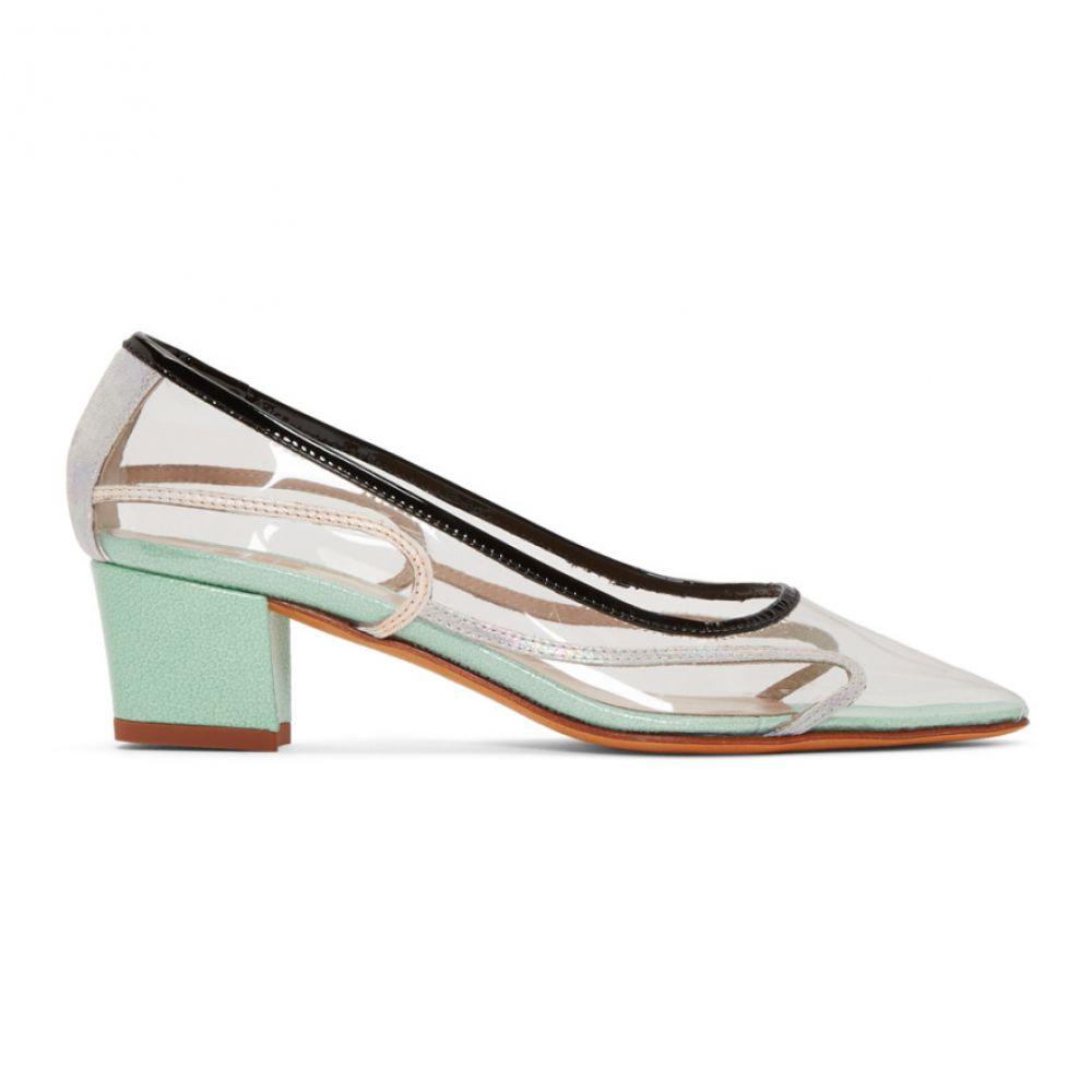 マリアム ナッシアー ザデー Maryam Nassir Zadeh レディース ヒール シューズ・靴【Transparent & Blue Naima Heels】