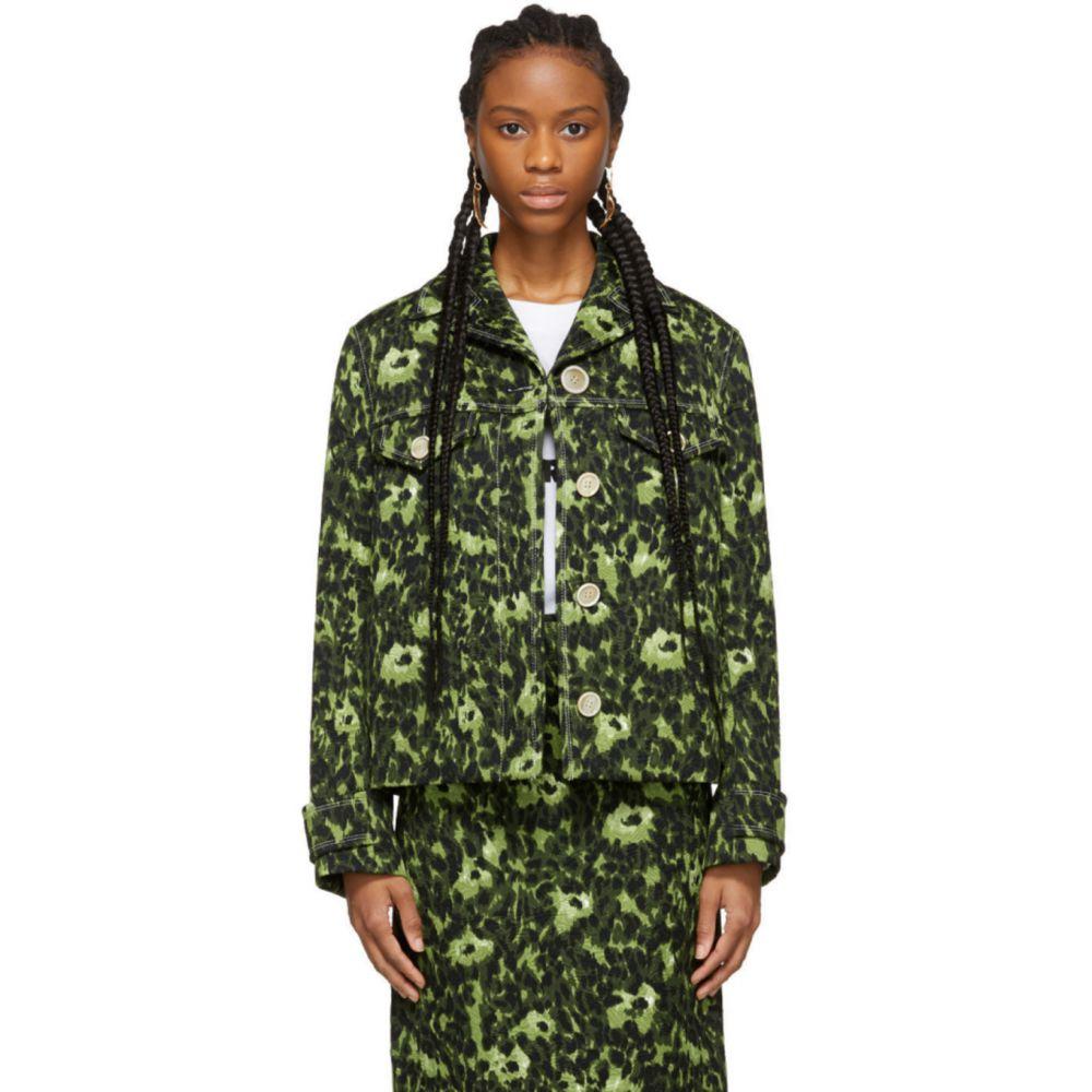 マルニ Marni レディース ジャケット アウター【Green Camouflage Cheetah Print Jacket】Green
