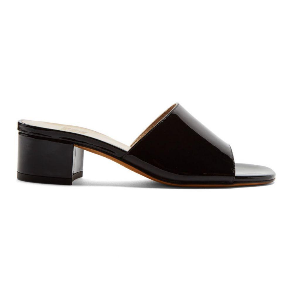 マリアム ナッシアー ザデー Maryam Nassir Zadeh レディース サンダル・ミュール シューズ・靴【Black Patent Agatha Slides】Black