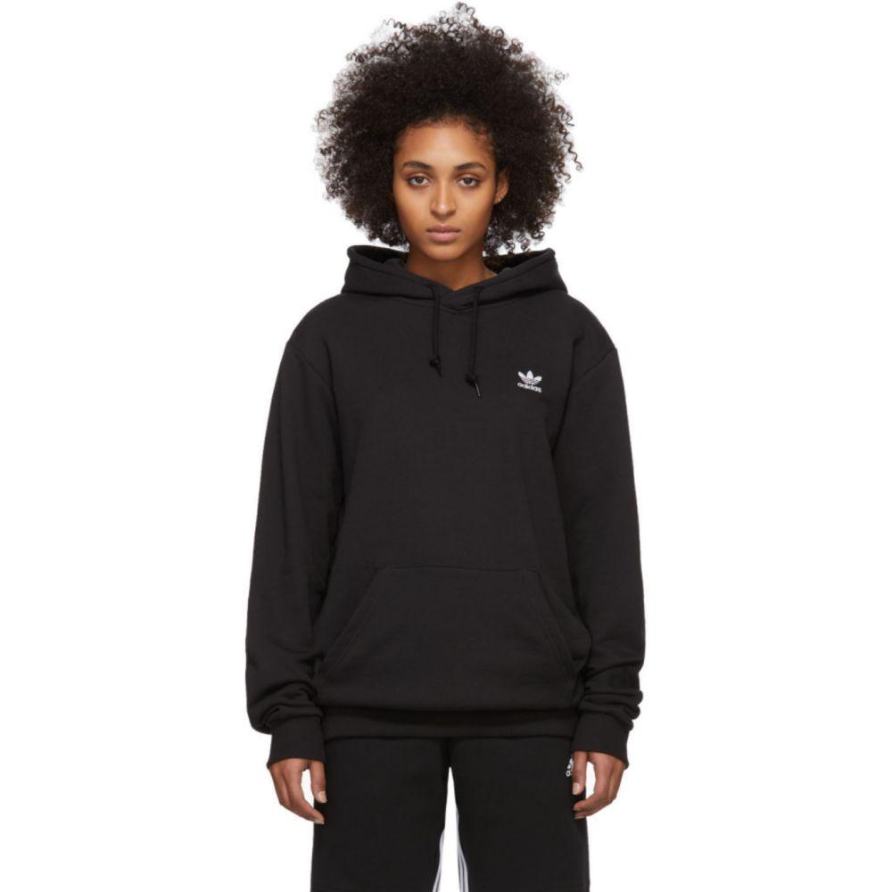 アディダス adidas Originals レディース パーカー トップス【Black Trefoil Essentials Hoodie】Black