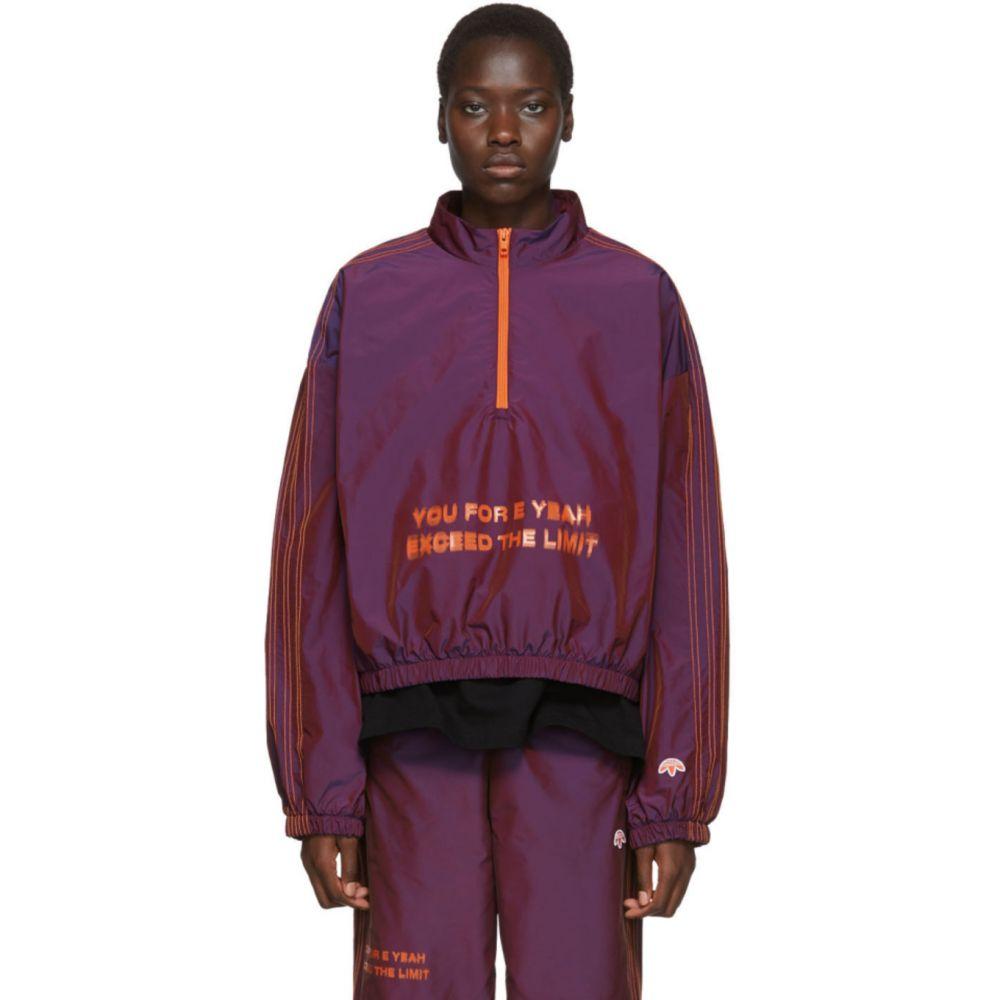 アディダス adidas Originals by Alexander Wang レディース ニット・セーター トップス【Purple 'You For E Yeah Exceed The Limit' Track Pullover】Multicolor