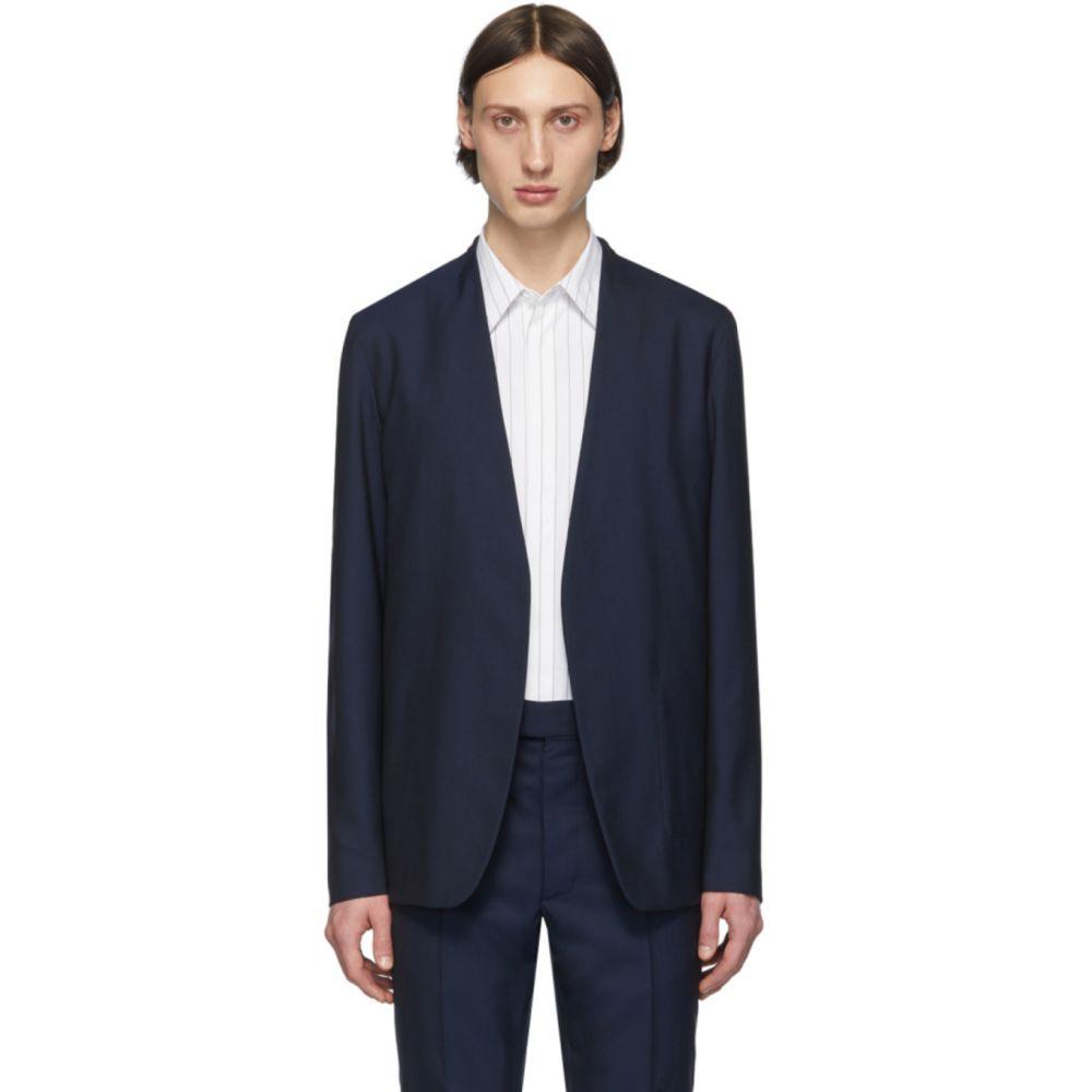 メゾン マルジェラ Maison Margiela メンズ スーツ・ジャケット アウター【Navy Wool Collarless Blazer】Navy