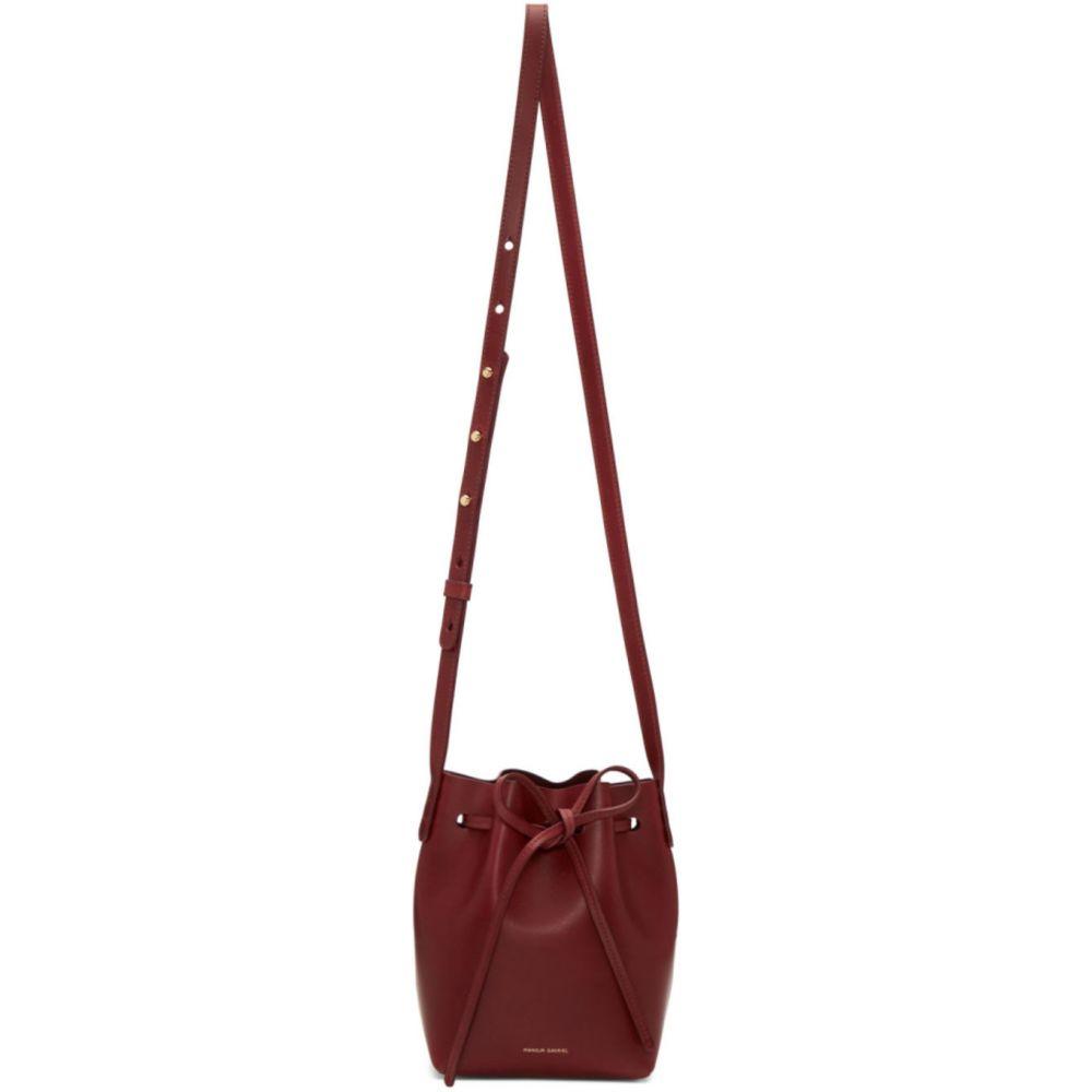 マンサーガブリエル Mansur Gavriel レディース ショルダーバッグ バケットバッグ バッグ【Burgundy Mini Mini Bucket Bag】Bordo/Bordo