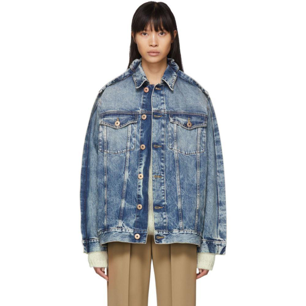 メゾン マルジェラ Maison Margiela レディース ジャケット Gジャン アウター【Blue Denim Double Collar Jacket】Blue