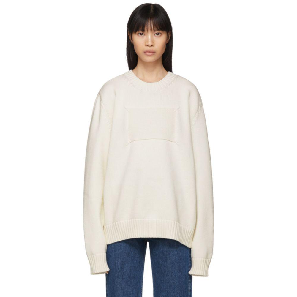 メゾン マルジェラ Maison Margiela レディース ニット・セーター トップス【Off-White Memory Of Label Sweater】Off-White
