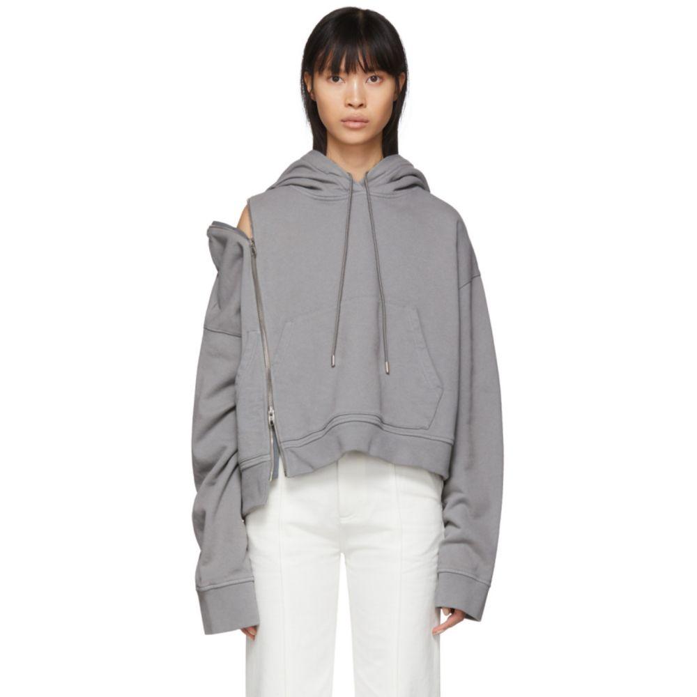メゾン マルジェラ Maison Margiela レディース パーカー トップス【Grey Multi-Wear Zip Hoodie】Medium grey