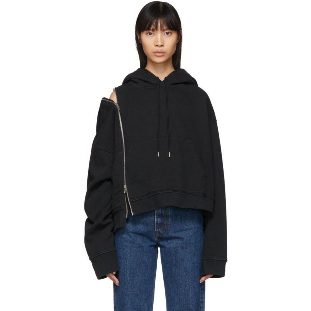 メゾン マルジェラ Maison Margiela レディース パーカー トップス【Black Multi-Wear Zip Hoodie】Black