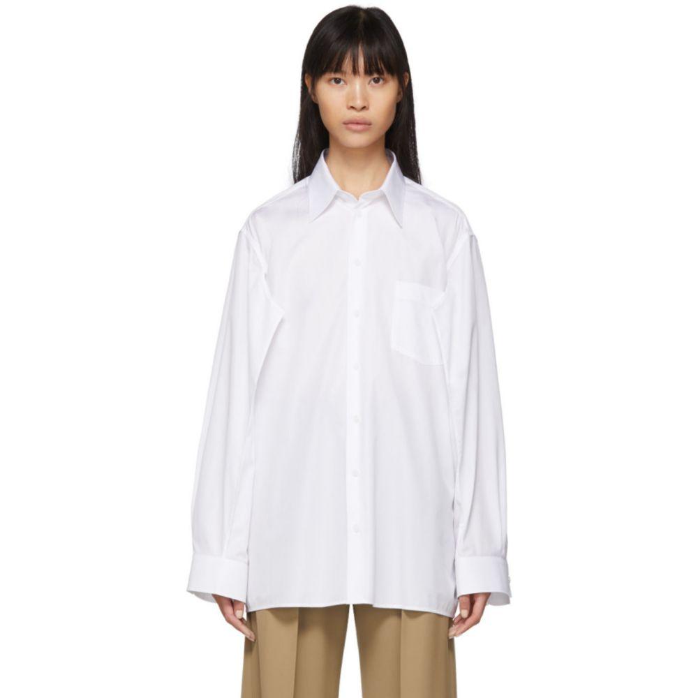 メゾン マルジェラ Maison Margiela レディース ブラウス・シャツ トップス【White Double Arm Shirt】Optic white