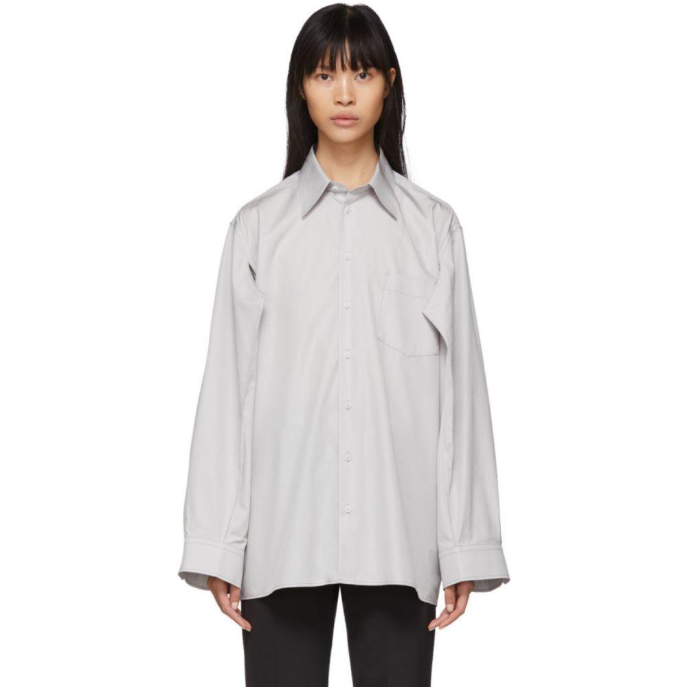 メゾン マルジェラ Maison Margiela レディース ブラウス・シャツ トップス【Grey Double Arm Shirt】Pearl