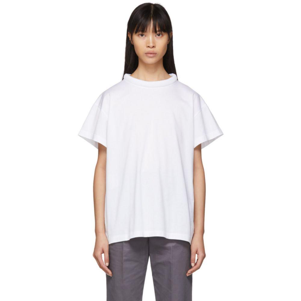 メゾン マルジェラ Maison Margiela レディース Tシャツ トップス【White Padded Collar T-Shirt】White