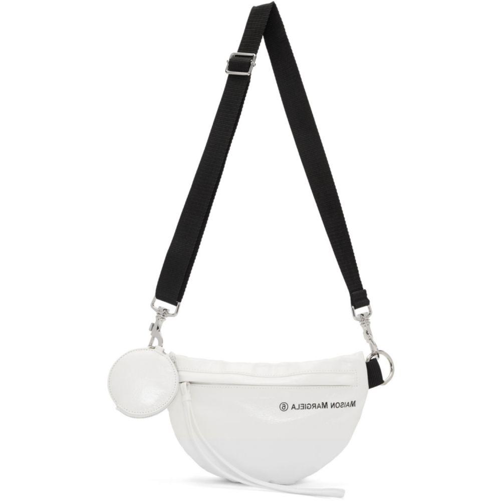 メゾン マルジェラ MM6 Maison Margiela レディース ボディバッグ・ウエストポーチ バッグ【White Two-Compartment Bum Bag】White
