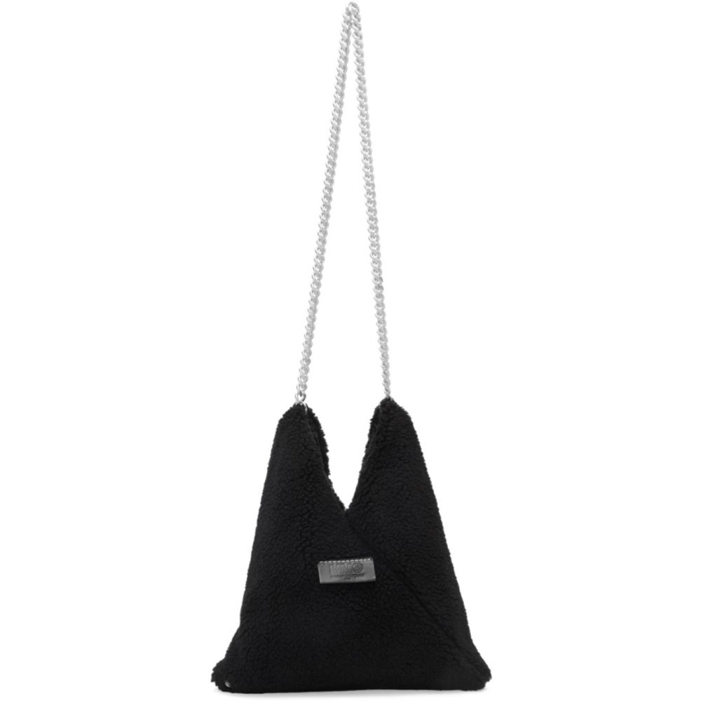 メゾン マルジェラ MM6 Maison Margiela レディース ショルダーバッグ バッグ【Black Sherpa Chain Bag】Black