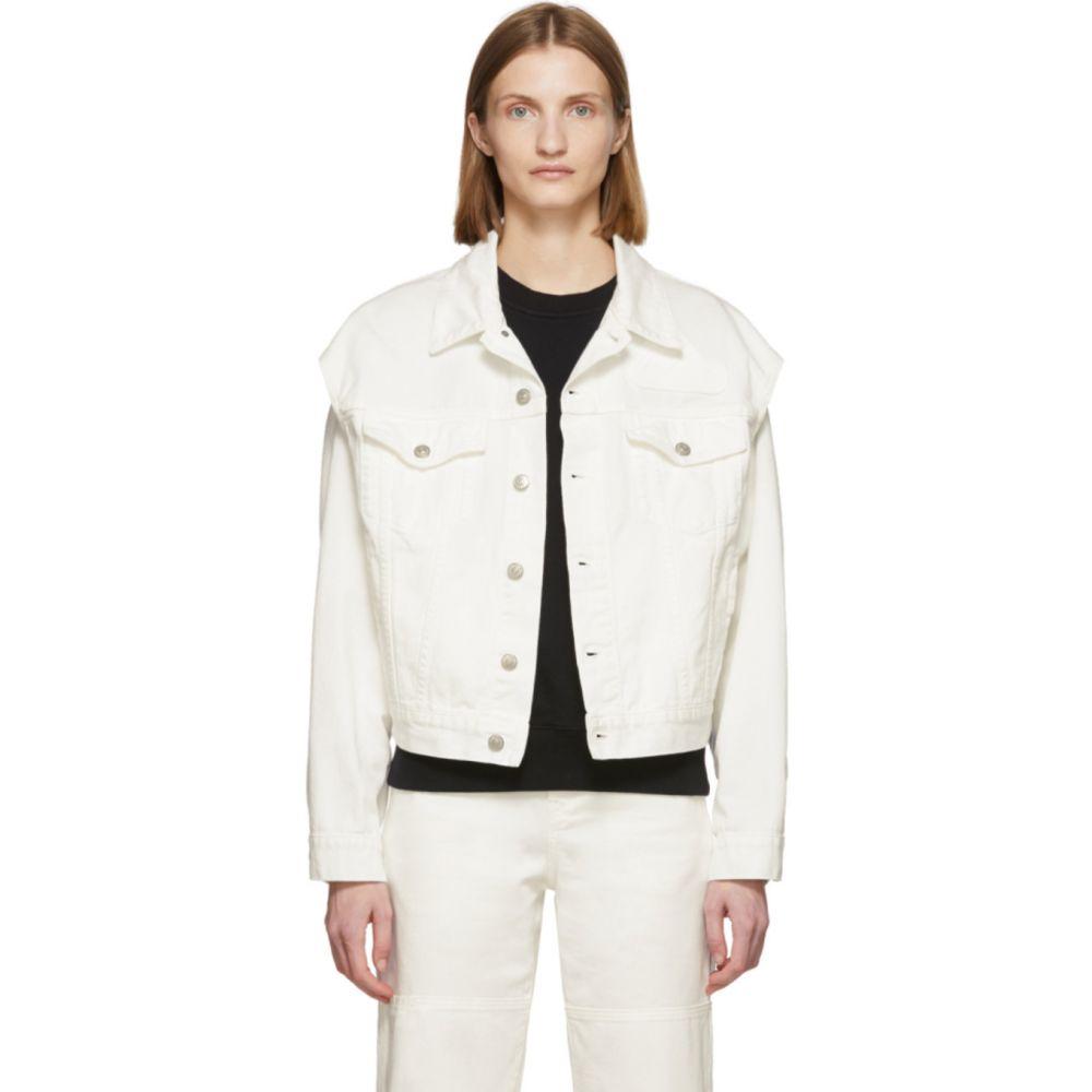 メゾン マルジェラ MM6 Maison Margiela レディース ジャケット アウター【Off-White Denim Arm Cut Outs Jackets】Off-white