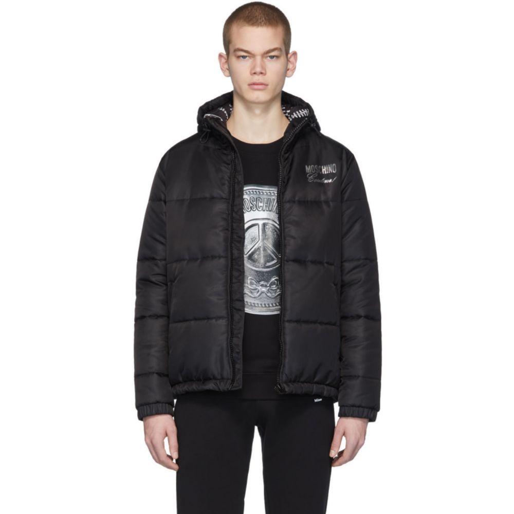 モスキーノ Moschino メンズ ダウン・中綿ジャケット アウター【Black Logo Puffer Jacket】Black