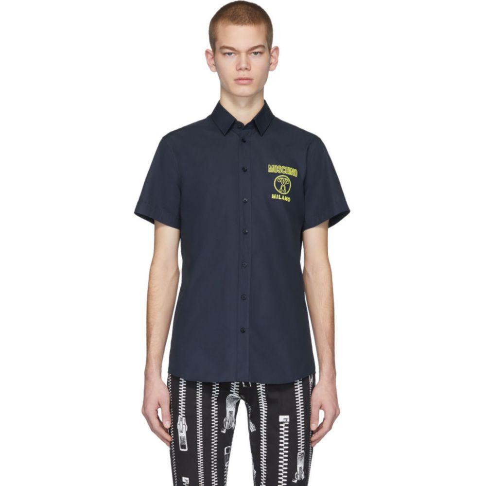 モスキーノ Moschino メンズ シャツ トップス【Blue Embroidered Shirt】Blue