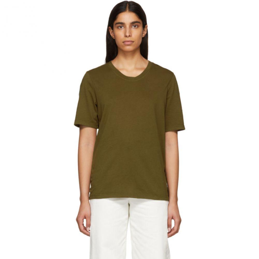 ラクエル アレグラ Raquel Allegra レディース Tシャツ トップス【Green Sueded Baby Jersey T-Shirt】