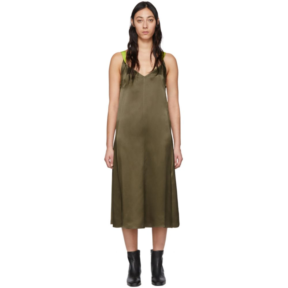 ラグ&ボーン rag & bone レディース ワンピース スリップドレス ワンピース・ドレス【Grey Silk Colette Slip Dress】Grey moss