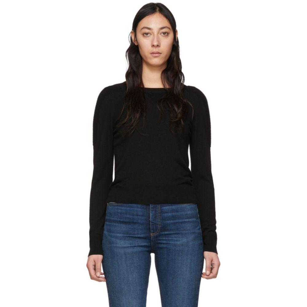 ラグ&ボーン rag & bone レディース ニット・セーター トップス【Black Wool Pak Crewneck Sweater】Black
