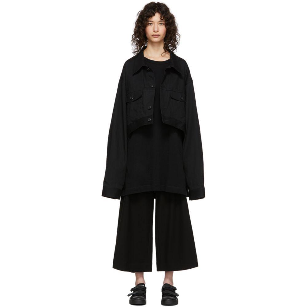 ヨウジヤマモト Regulation Yohji Yamamoto レディース ジャケット Gジャン アウター【Black Denim R-Short Jacket】Black