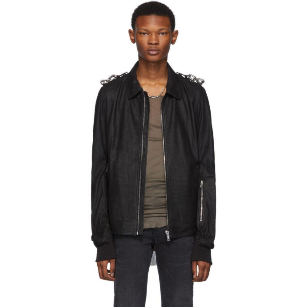 リック オウエンス Rick Owens メンズ ジャケット アウター【Black Blistered Rotterdam Jacket】Black