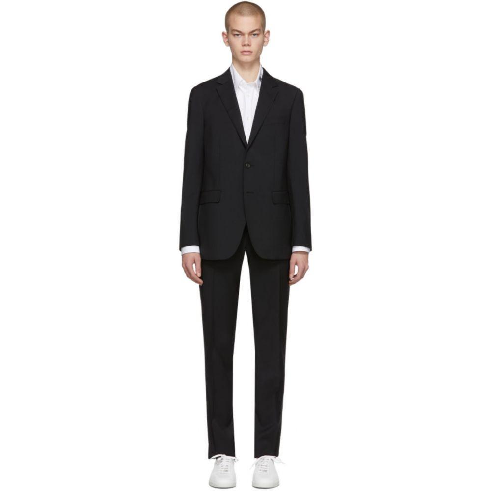 ランバン Lanvin メンズ スーツ・ジャケット アウター【Black Natural Stretch Wool Suit】Black