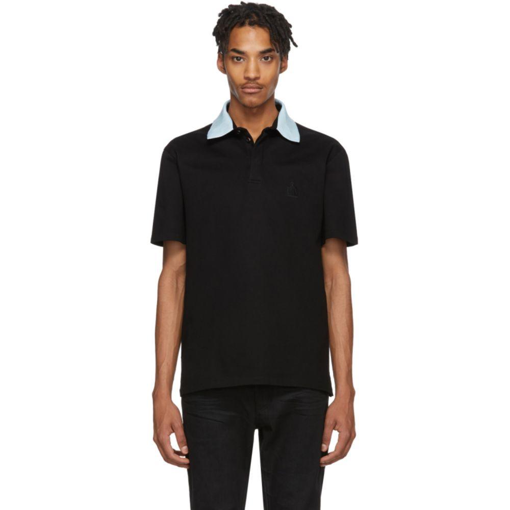 ランバン Lanvin メンズ ポロシャツ トップス【Black Grosgrain Polo】Black