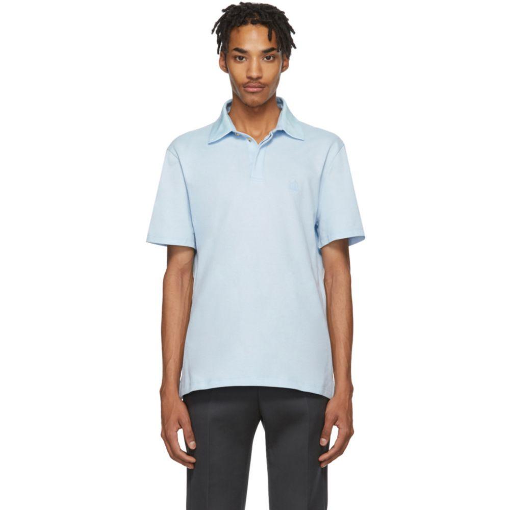ランバン Lanvin メンズ ポロシャツ トップス【Blue Grosgrain Polo】Lanvin blue